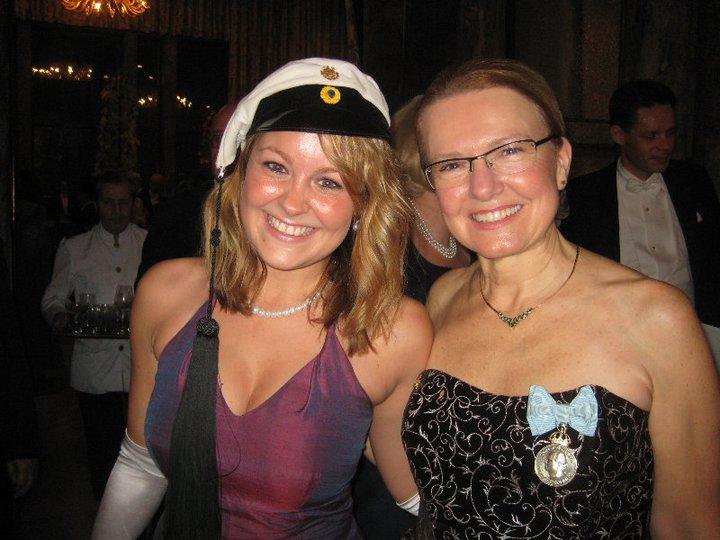 Susanna Lidman tillsammans med Chalmers rektor Karin Markides