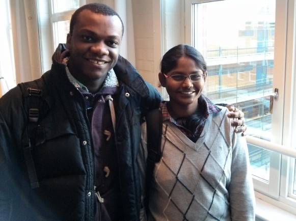 SI scholarship holders Issac and Durga from MPCOM-1,Chalmers