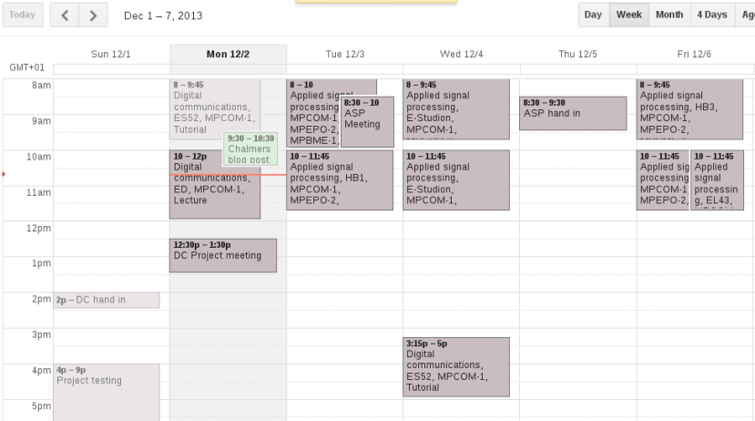 Relatively less crowded week this one