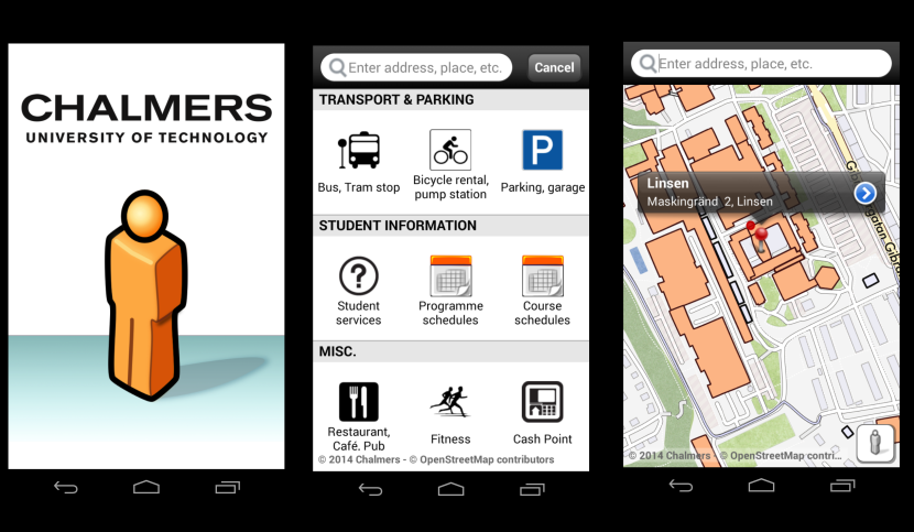 Screenshot of the Chalmers app on my Android phone