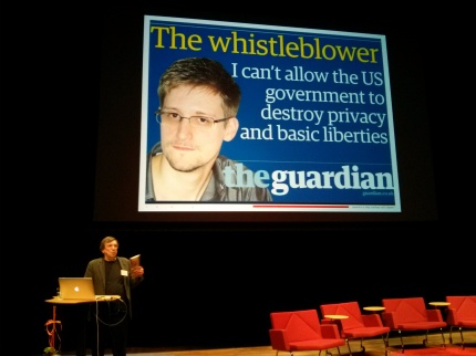 David Leigh talking about the Snowden files