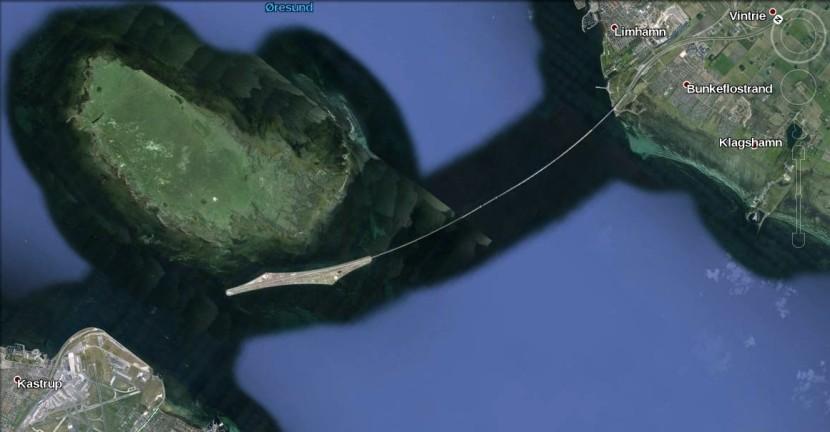 Satellite view of the Oresund bridge!