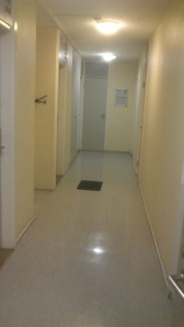 The corridor I lived in when I first came to Sweden
