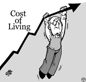 A rise in cost of living can get stressful
