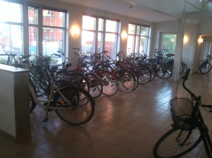 Ample parking space for cycles inside the building. Reducing the risk of theft