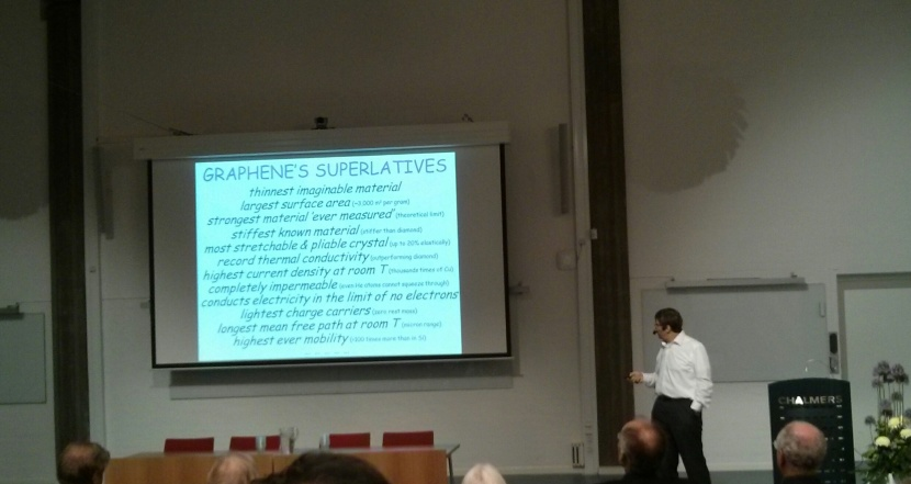 Nobel laureate in Physics, and IgNobel prize winner Andre Geim at Chalmers!