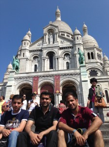 At Sacré-Coeur: It is located on top of the Montmartre Hill, one of the highest points in Paris
