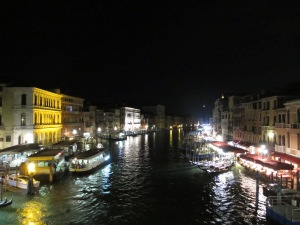 Venice: Grand Canal at night