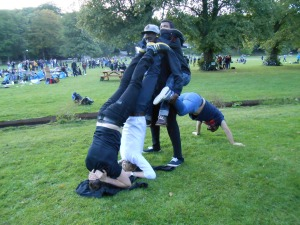 Having fun at Park hangout