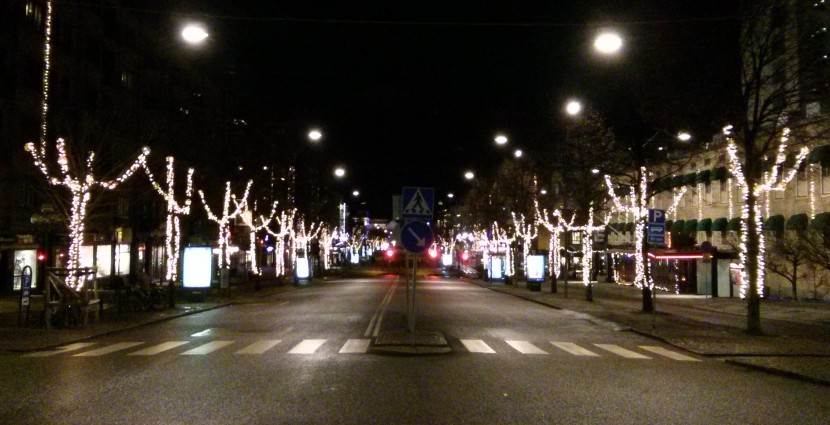 Jul lighting along Avenyn