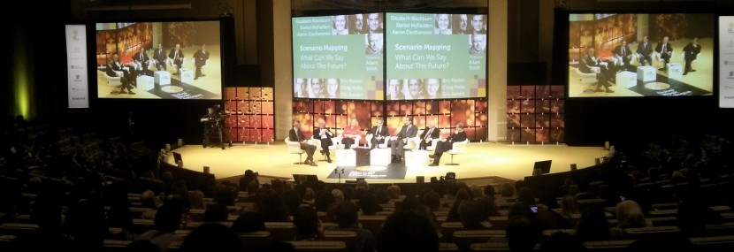 The final panel discussion, with 6 Nobel laureates!