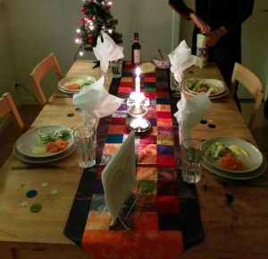 All set for the dinner at New Year's Eve
