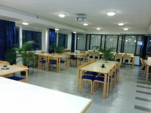 The kitchen for staff is also open to students writing their master thesis