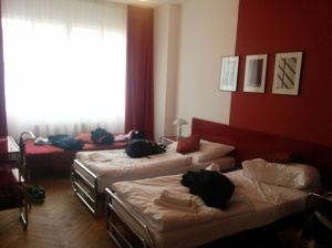 Hotel room in Prague