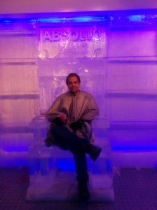 An interior made of ice. Did not find the Iron throne so, took an Ice throne instead.